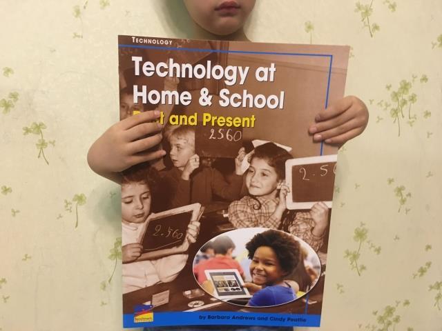 超大地板書 technology at home & school past and present 必讀