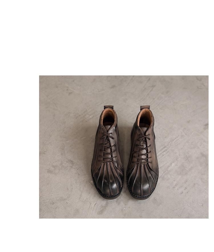 冬季真皮贝壳头男士皮靴潮工装靴马丁靴 855-12-P265