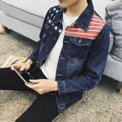 Teenage retro denim jacket men's spring and autumn new Korean Slim jacket students casual clothes tide