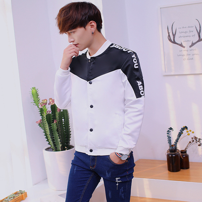 Spring and Autumn Jacket Jacket Korean version of the youth students casual coat long-sleeved men's baseball clothing handsome trend