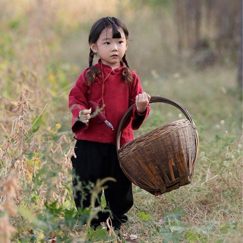 女童棉衣中国风秋冬装宝宝汉服儿童古装摄影服装过年衣服女宝唐装