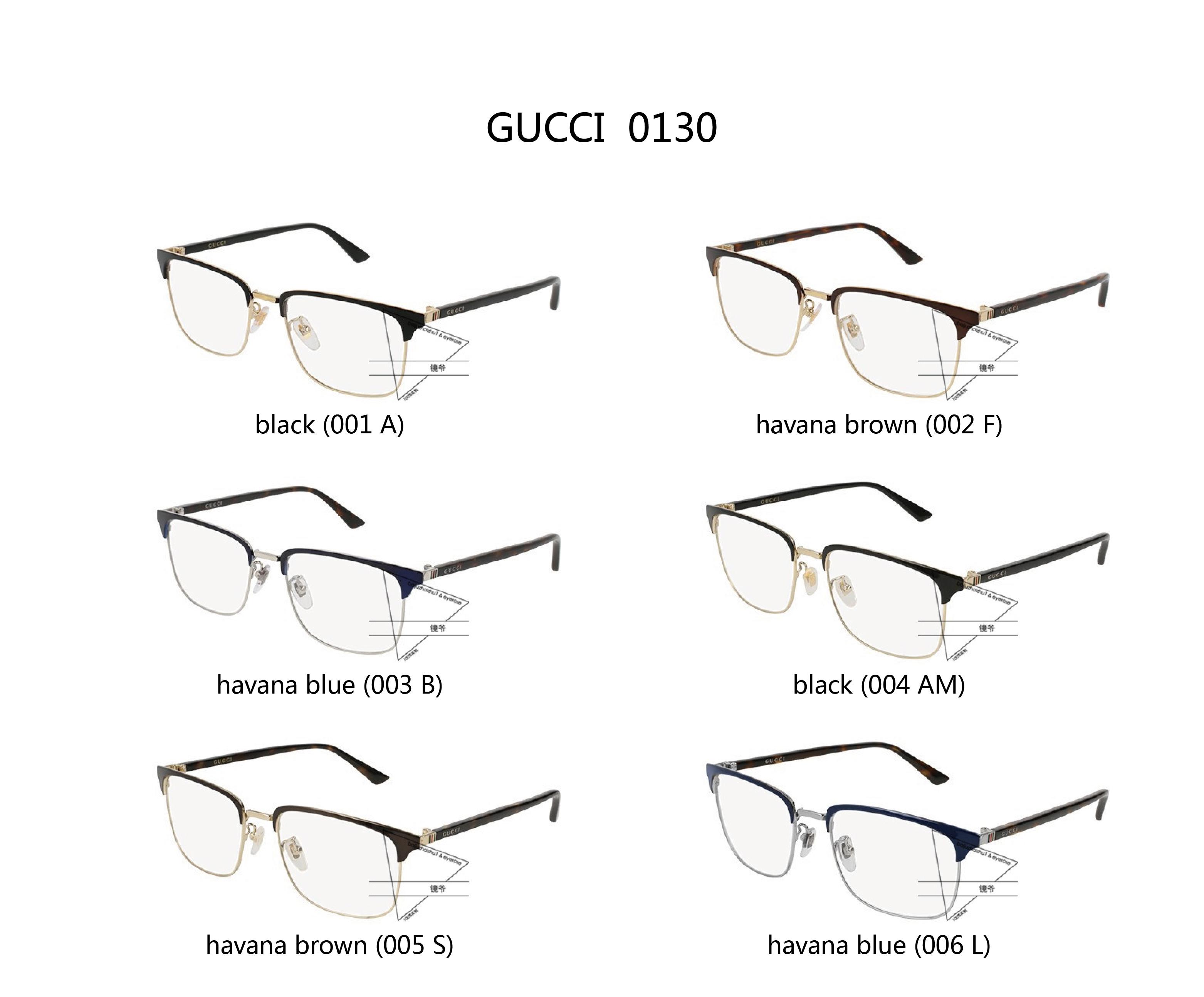 5d73f2979f7d4  Mirror  spot GUCCI Gucci myopia men and women GG0130O Gucci half frame  optical glasses
