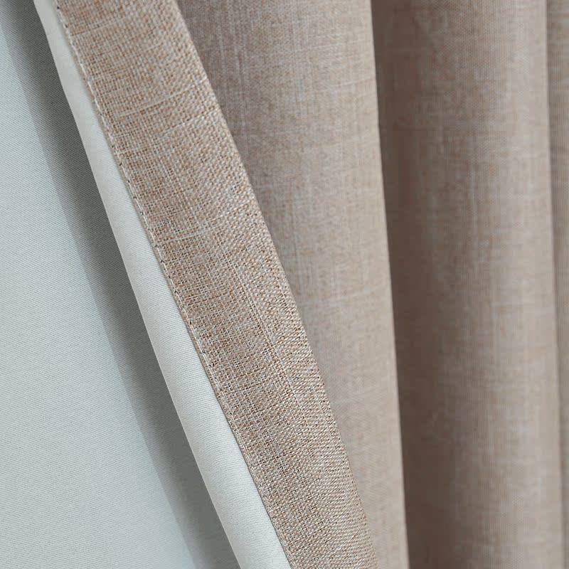 Шторы тканевые Простые и современные шторы хлопок сплошной цвет постельное белье светло-защитного цвета гостиная спальня балкон затемняющие шторы специальные