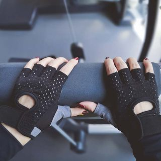 Sports gloves female fitness half-finger gloves, non-slip palm protection halter yoga jogging outdoors riding gloves