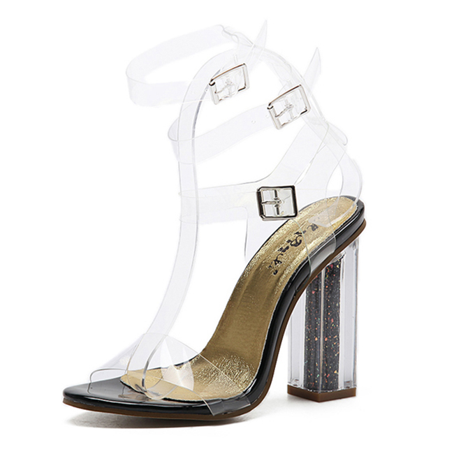 Thich Heel & Transparent Strap Sandal's main photo