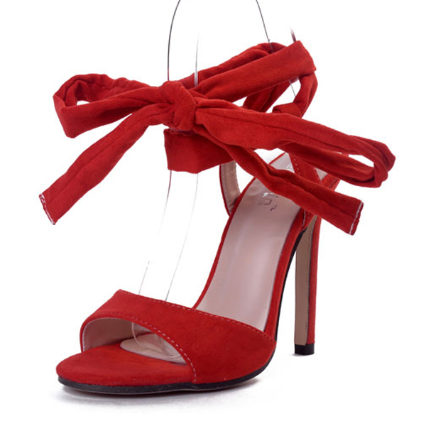Red strap high-heeled sandals's main photo