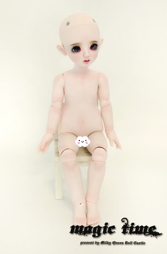 Nipponia make up Free WIG AND EYES Magic Time 1//4 girl super dollfie size bjd