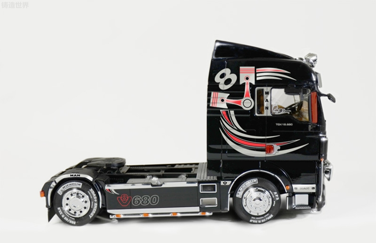 V8 Tribal for Scania Tamiya in 1:14,5 Side Plate Foil Sticker