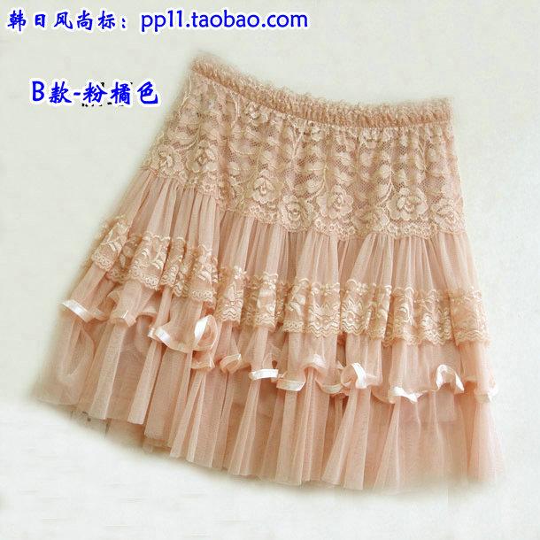 Женская одежда 2016 новое лето! Бутон платье изысканный полный кружево юбка пачка мягкий органзы юбка половина-Длина юбка кружева мини-юбки