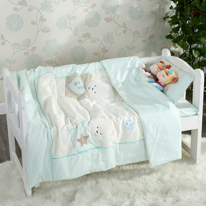 Pure cotton cotton Baby Garden Quilt Six or seven sets of cotton children's mother bedding three sets containing core autumn and winter