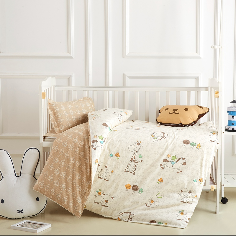Kindergarten quilt three-piece set with core seven sets of baby into the garden of pure cotton children's nap bedding removable