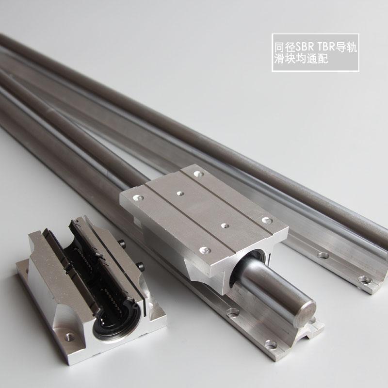 TBR圆柱铝托导轨 直线光轴滑道16/20/25/30木工燕尾导轨箱式滑块(图5)