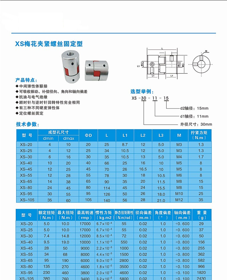 梅花联轴器/伺服电机/丝杆/弹性联轴器/连轴器连接器轴承夹紧轴套(图5)