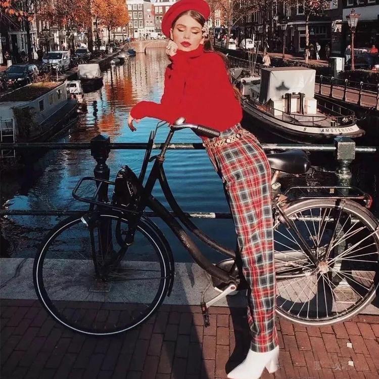 奶奶裤大火,哪它要如何与毛衣搭配呢?12