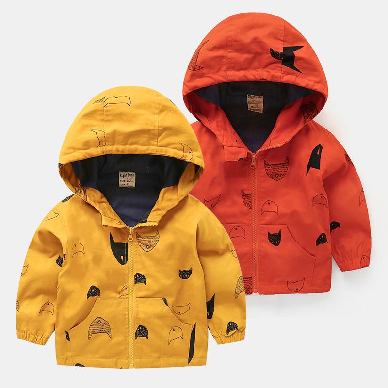 男童加绒加厚冲锋风衣外套宝宝新生幼儿外套小童冬装3岁1棉衣保暖