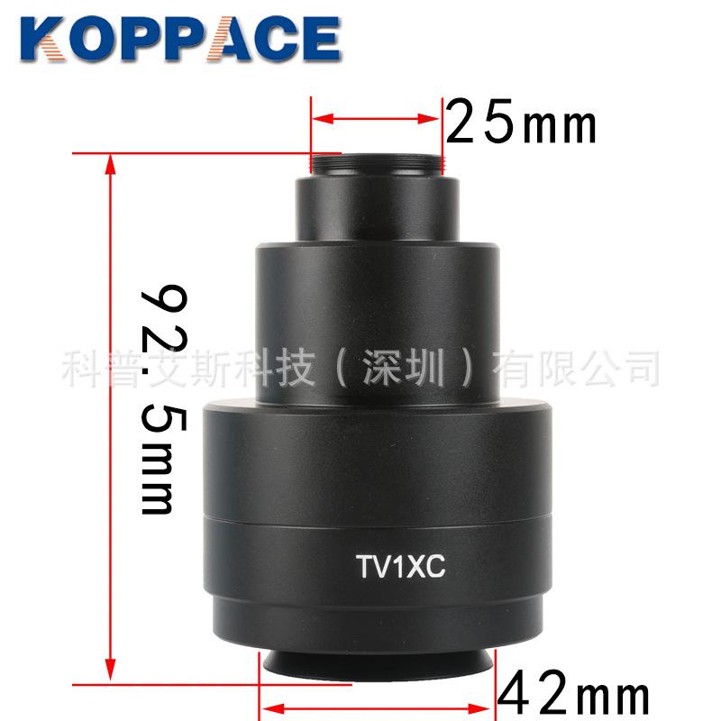 包邮奥林巴斯三目显微镜1X工业相机接口Olympus1X CTV适配器接口