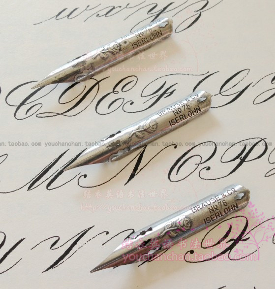 German English Calligraphy Copperplate Round Body Dip Pen Tip Brause Rose Special Soft