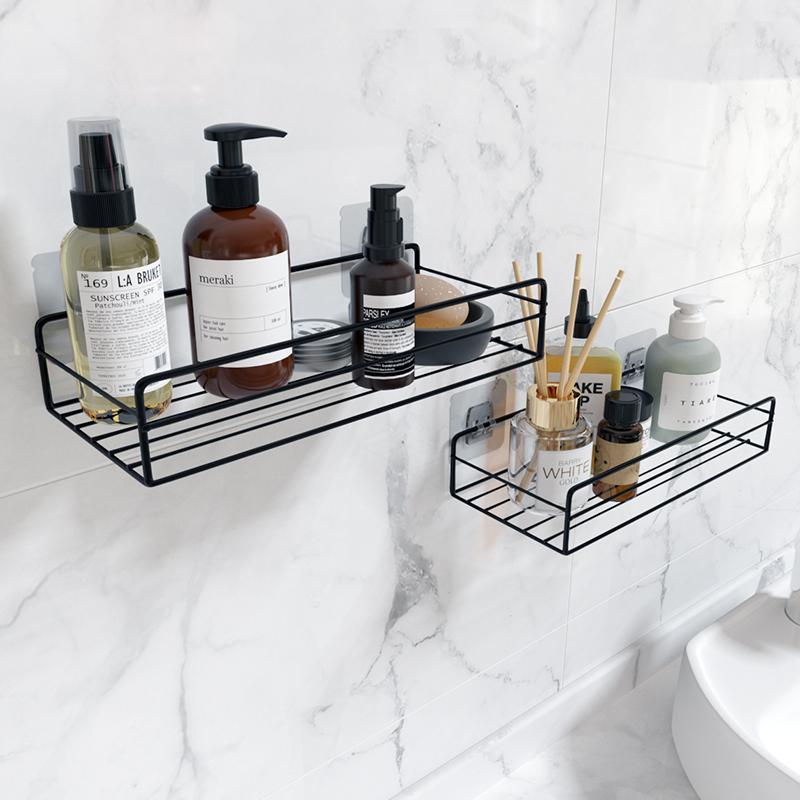 卫生间置物架浴室化妆品收纳筐挂篮壁挂式免打孔铁艺墙上宿舍床头