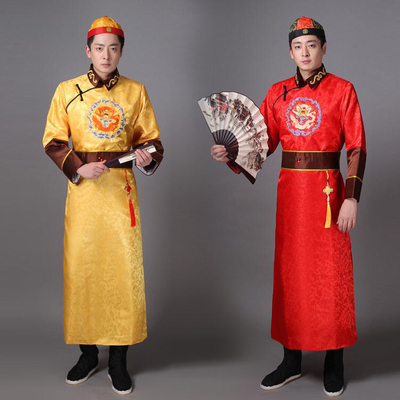 Ancient costumes, Qing Dynasty, Beller, Costa, adult boy, landlord, Master Wang, and Manchu stage costumes.