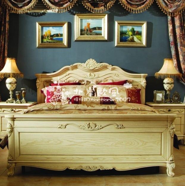 Кровать из массива дерева North European style