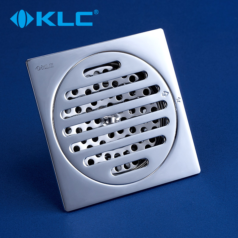 KLC純銅方形地漏 全銅鍍鉻地漏 廚房衛生間地漏