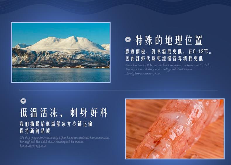 【冻鲜】獐子岛阿根廷红虾L1/2kg 进口海鲜水产品 活冻大虾
