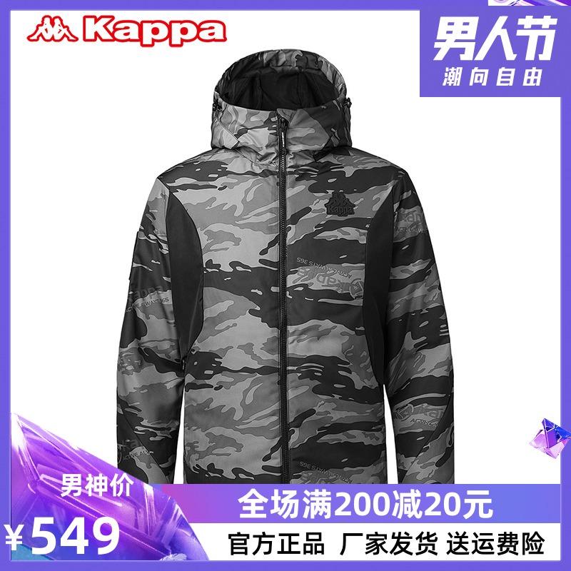 Kappa/背靠背卡帕新款冬季男装潮流帅气短款速干加厚保暖棉服外套
