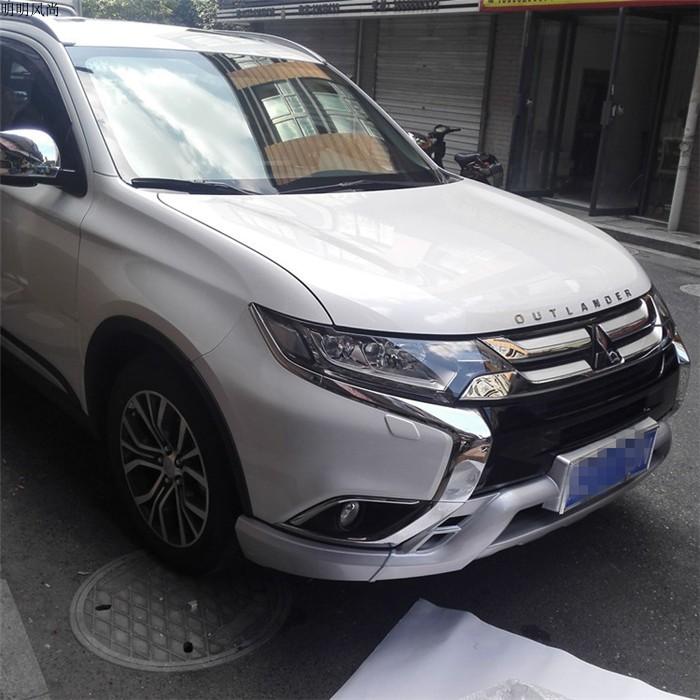 Bộ ốp cản trước và sau Mitsubishi Oulander 2019 - ảnh 3