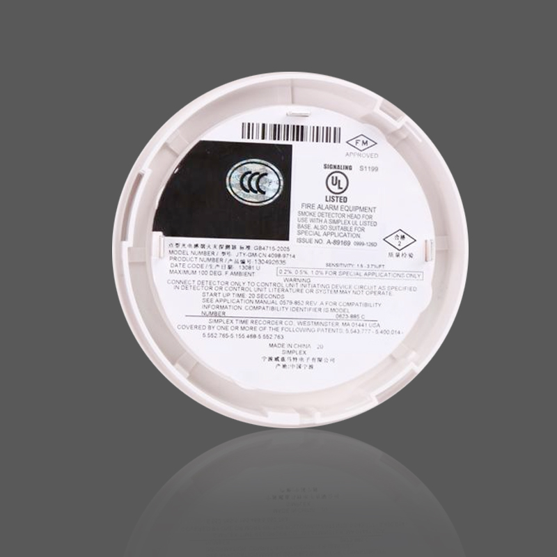 Simplex New Plymouth 4098-9714 point type photoelectric smoke detector  4098-9792 smart base a