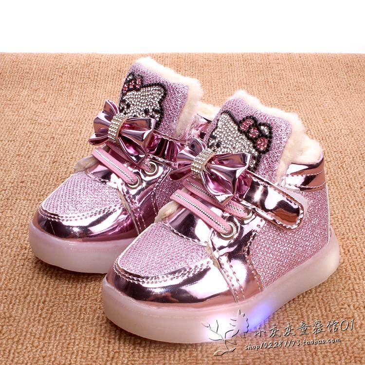 cheap for discount affordable price really comfortable 1-2-3-4-5-6 year old girl cotton shoes winter one week old half ...