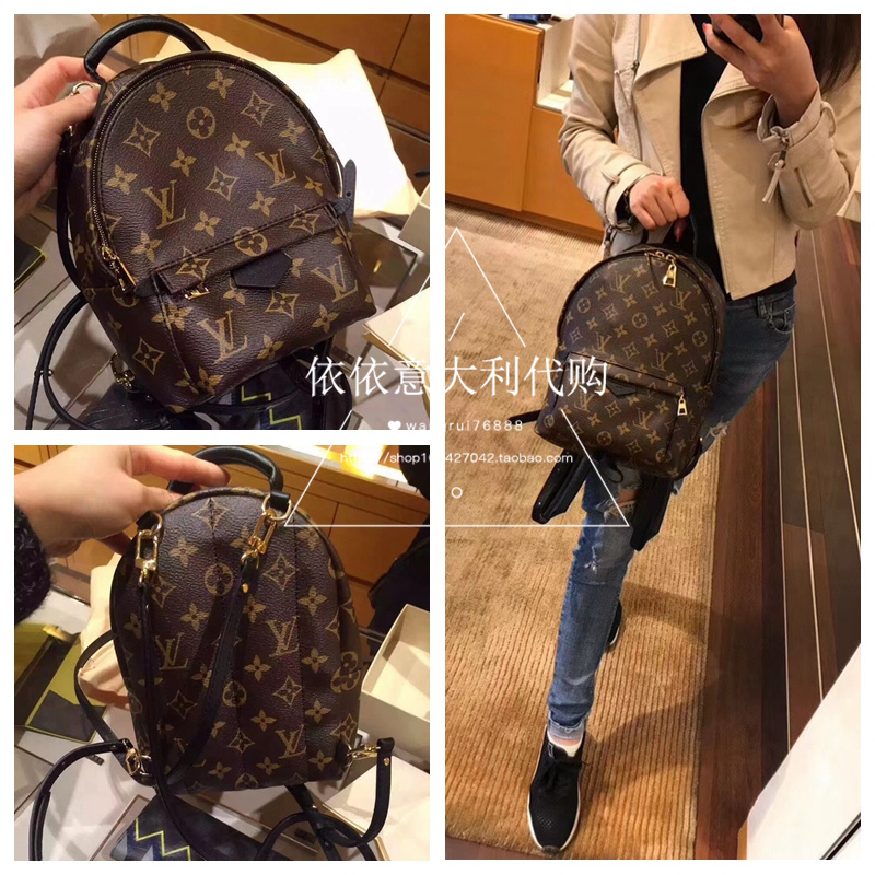 4fe66ff8116a LV Louis Vuitton classic old flowers new Mini backpack small bag ...