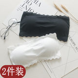 A piece of seamless underwear tube top, shoulders, shoulder, beautiful, white bottom, anti-walking, chest, thin