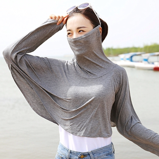 Summer Drive Bike Modale sunscreen UV long-sleeved shawl mask one-length sunshade long-sleeved cover girl