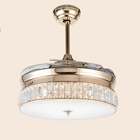 Ordinaire Ceiling Fan Lamp Invisible Fan Lamp Dining Room Fan Chandelier Living Room  Bedroom Crystal Lamp With