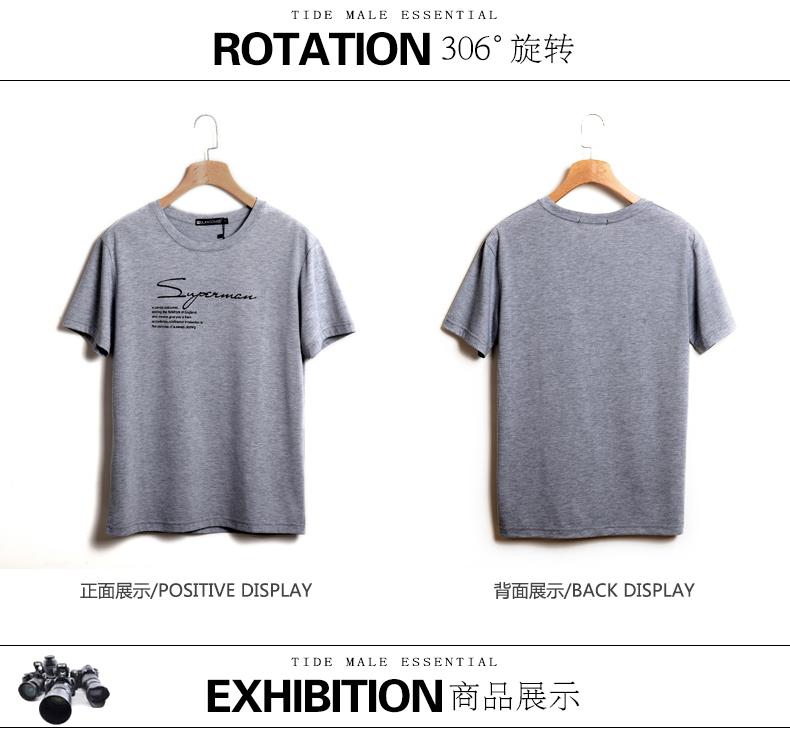 2018 mới ngắn tay t-shirt lỏng kích thước lớn nam từ bi chất béo chất béo vòng cổ bông cộng với phân bón tăng nửa tay áo áo thun gucci