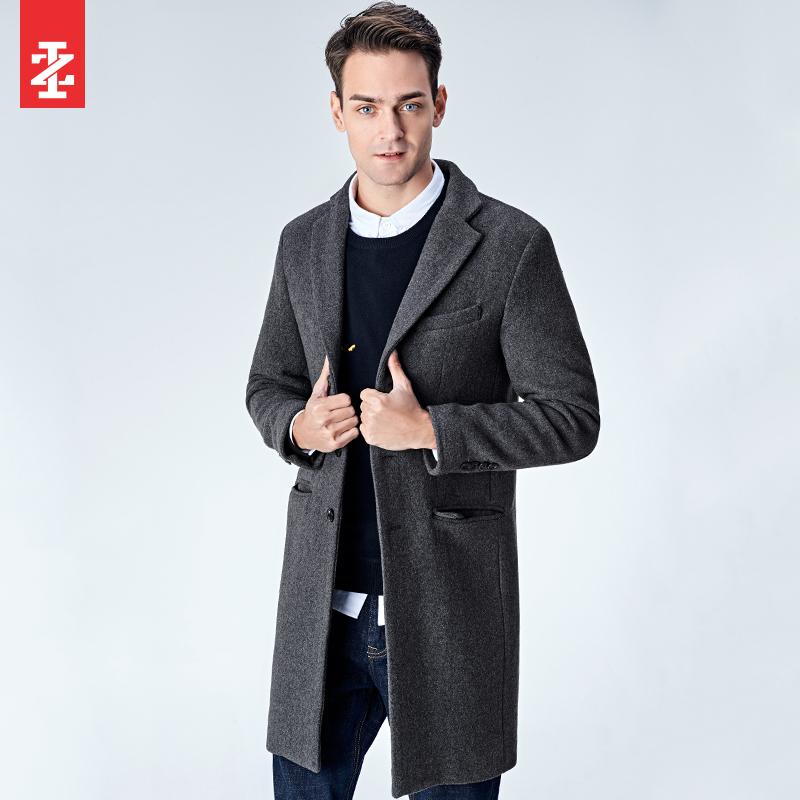 IZOD Áo nam mùa đông giản dị của Mỹ mặc áo khoác len dày A91184JW017 - Áo len