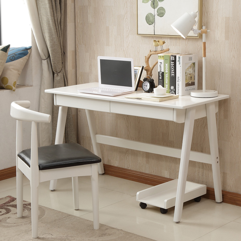Bedroom Desk Study Table: [USD 231.27] Wood Desk Simple Household Student Writing