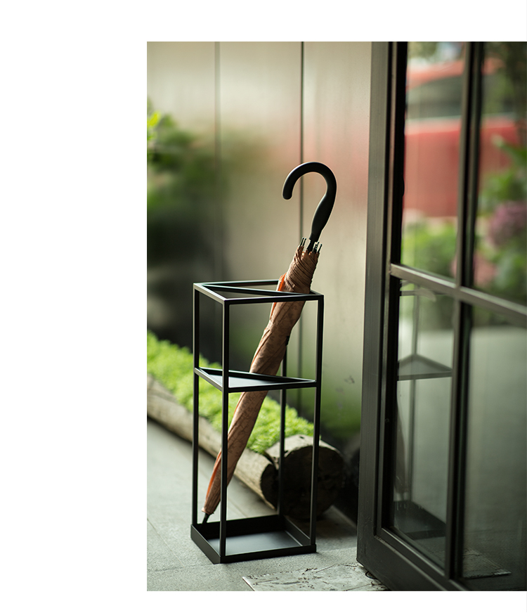 創意幾何北歐雨傘架家用客廳雨傘收納架傘桶酒店大堂商用放傘架子 【拾月生活小鋪 可開發票】