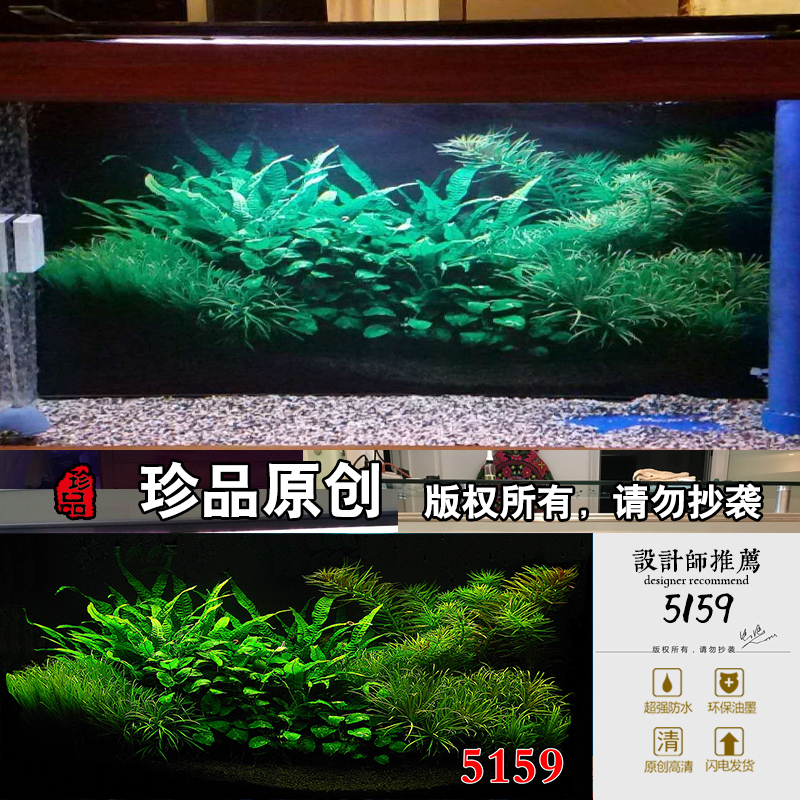 Fish Tank Background Paper Painting Hd Figure 3d Three