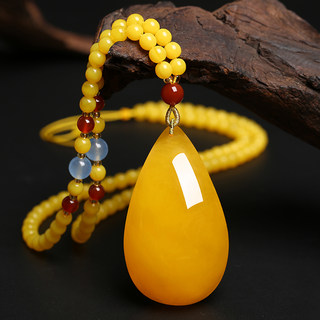 Beeswax pendant sweater chain long section 2019 new wild 18k red Fei peace buckle necklace zodiac animal year