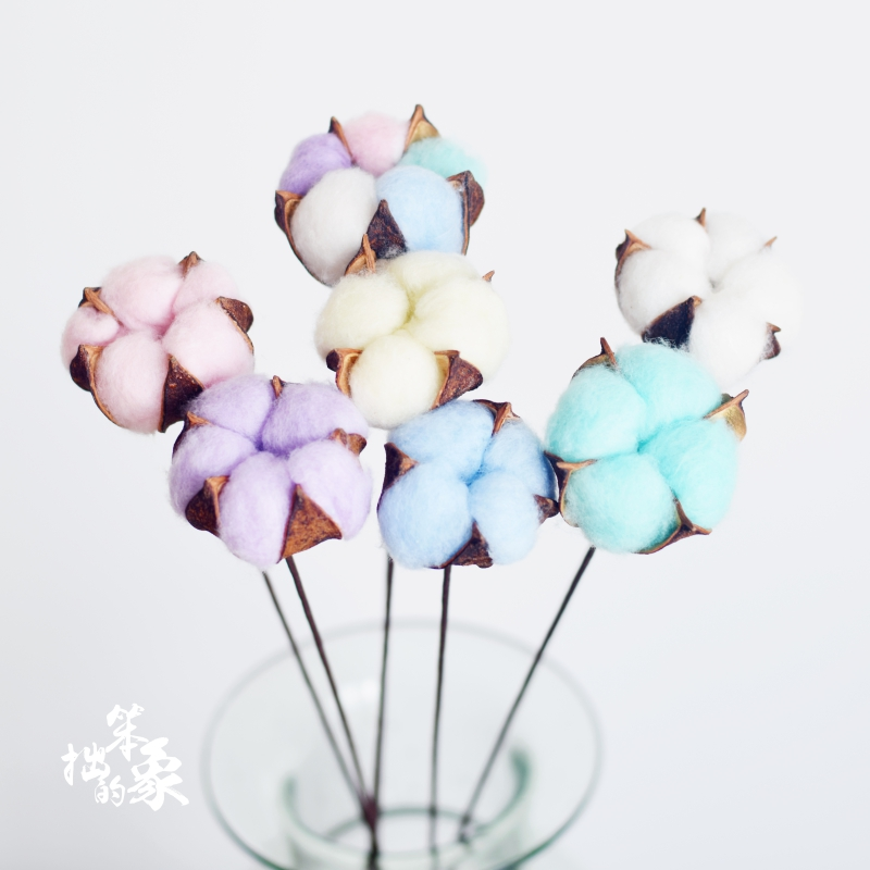 Usd 621 cotton bouquet of dried flowers the color of a single cotton bouquet of dried flowers the color of a single natural life everlasting flowers home furnishings wedding decoration shoot props kapok junglespirit Images