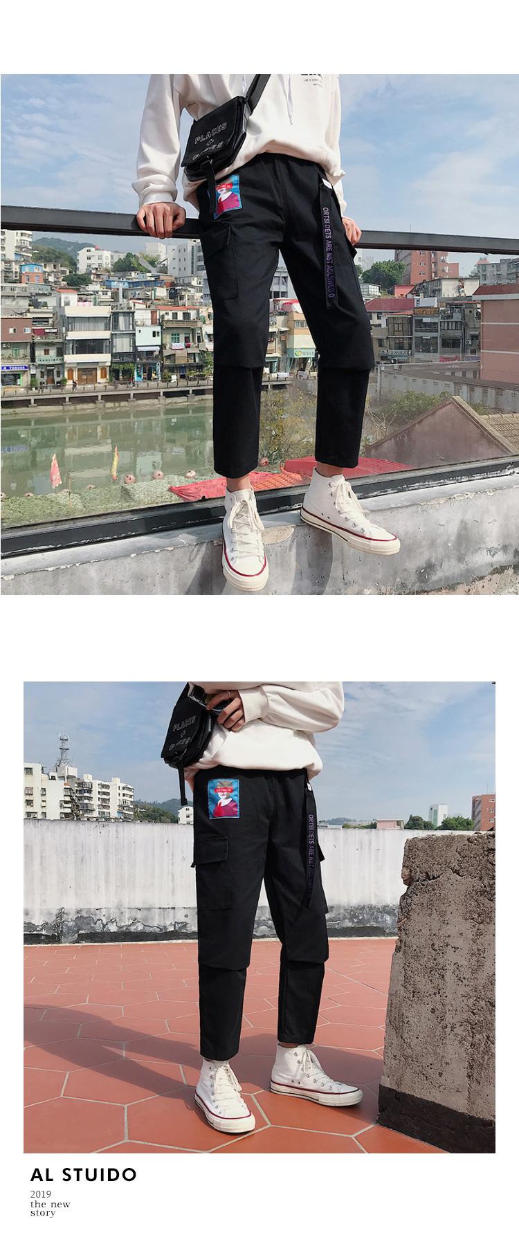 春夏季潮流工装裤男潮牌直筒休闲裤时尚大码裤子哈伦裤K6001-P32