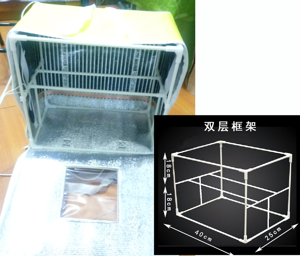 DIY self-made upgraded version of the folding home fermentation box bread  baking wine handmade soap thermostat proofreading incubator