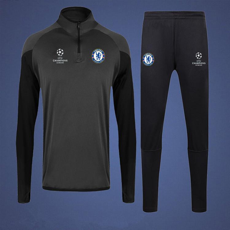 套装健身服足球足球套装服男训练儿童小腿切尔西长袖收腿裤收球衣
