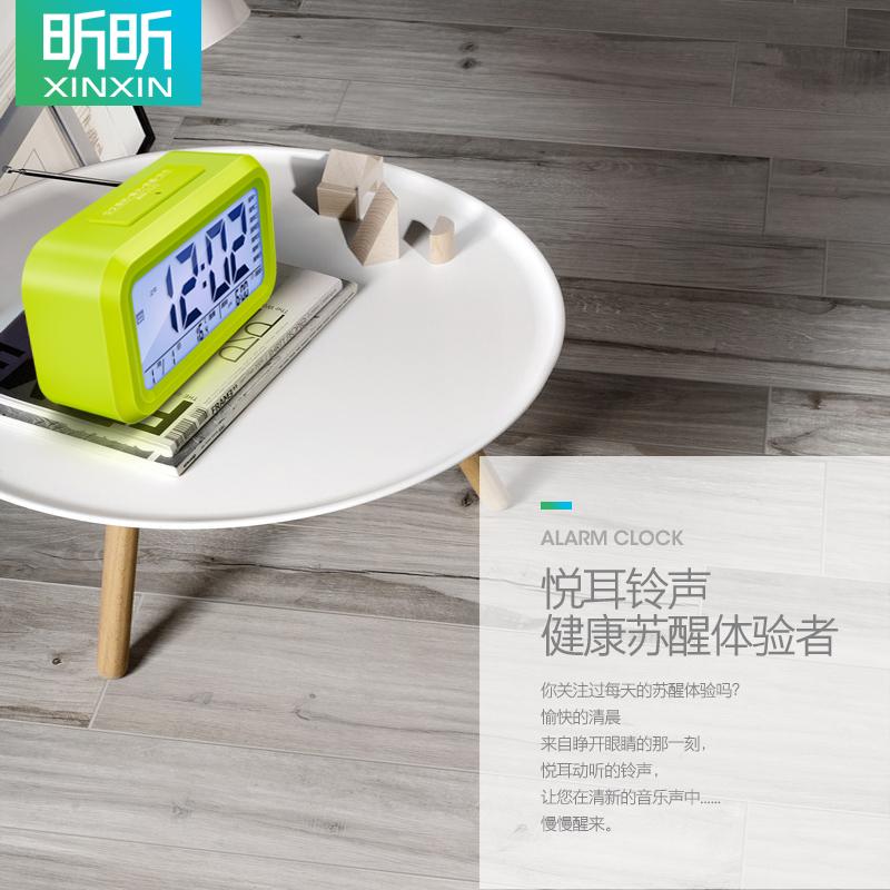 闹钟学生用可充电静音卧室床头夜光钟表桌面智能多功能数字电子钟