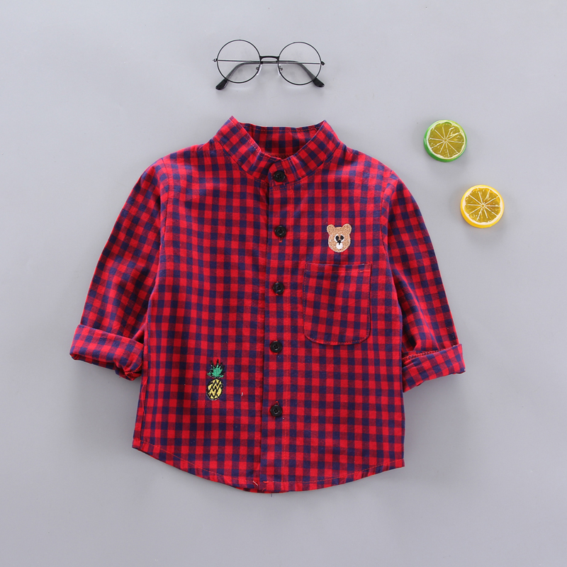 EMBROIDERED BEAR SHIRT RED