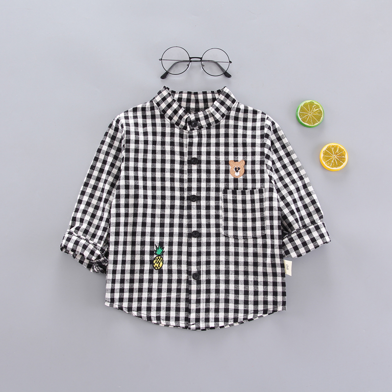 EMBROIDERED BEAR SHIRT BLACK