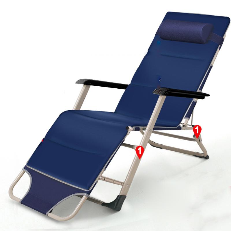 耐朴折叠躺椅午休午睡椅子办公室床靠背懒人靠椅阳台休闲沙滩家用_英家券