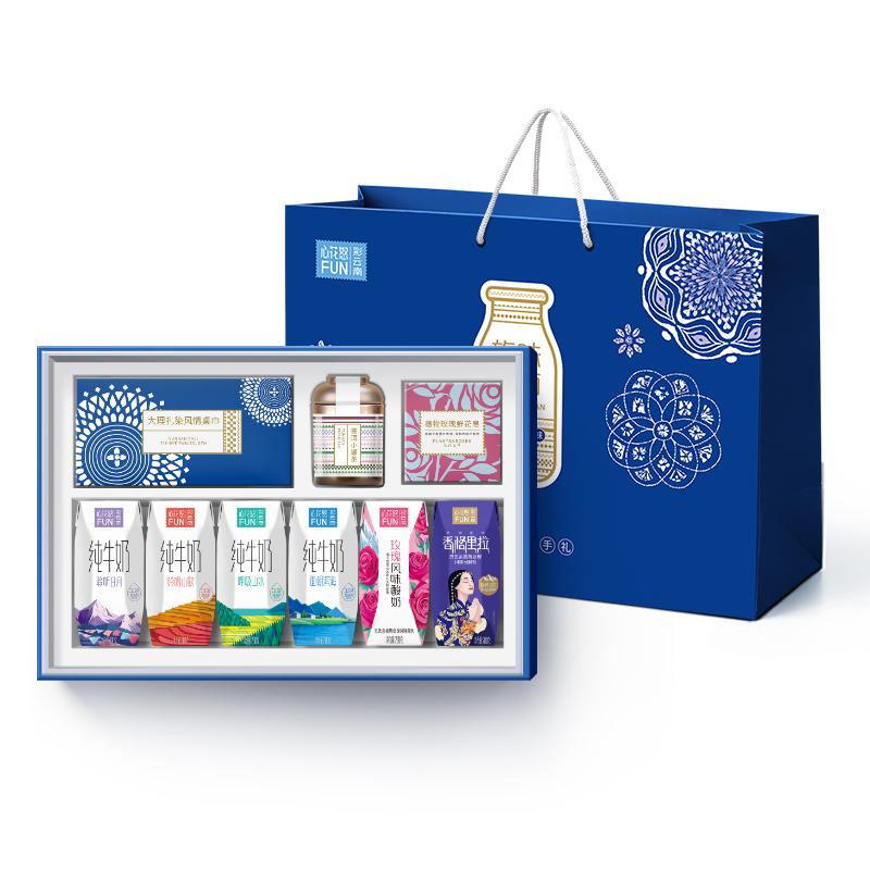雪兰牛奶礼盒中秋礼物酸奶纯牛奶送长辈一箱200*12盒健康礼品