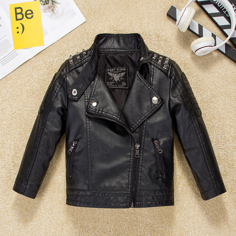 Children's wear boy leather jacket children's jacket autumn dress 2020 new handsome big boy Korean version of the shirt tide